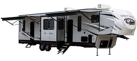 Forest River RV Cherokee Wolf Pack Toy Hauler Fifth Wheels