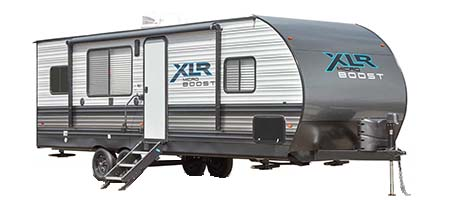 XLR Micro Boost Toy Hauler Travel Trailer