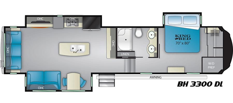 3300DL Floorplan
