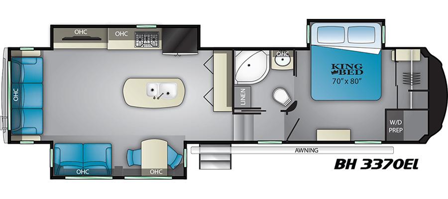 3370EL Floorplan