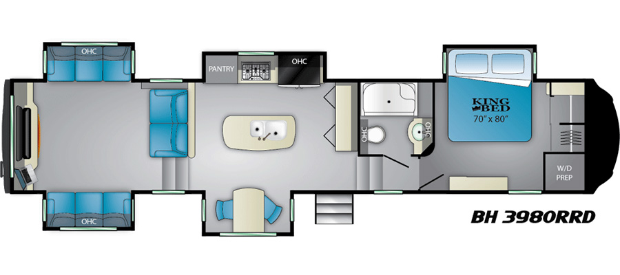 Click here to see the New 2019 Bighorn 3980RRD Fifth Wheel by Heartland at RVWholesalers.com