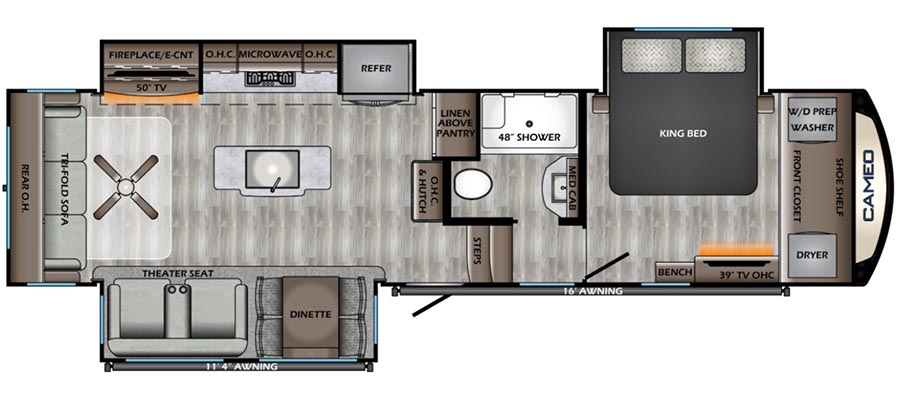 320RL Floorplan