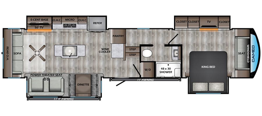 370RL Floorplan