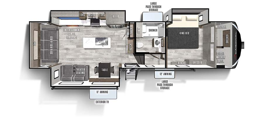 2022 Forest River Cardinal Luxury 320RLX Fifth Wheel: image 1