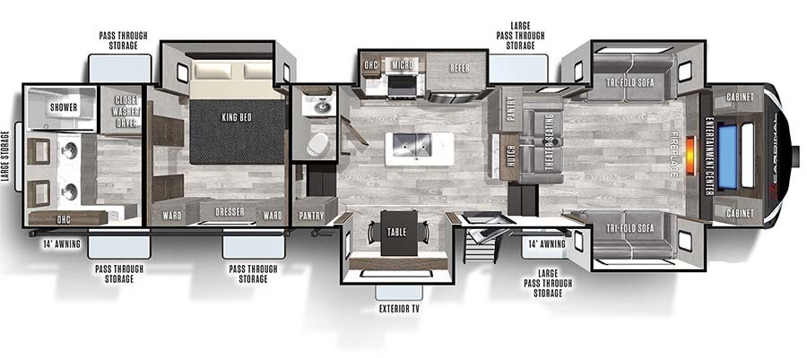 370FLX Floorplan