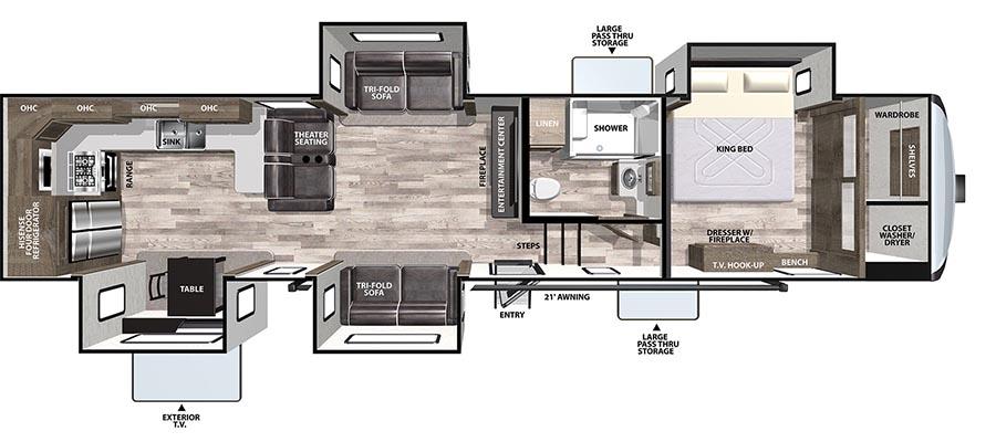 375BKX Floorplan