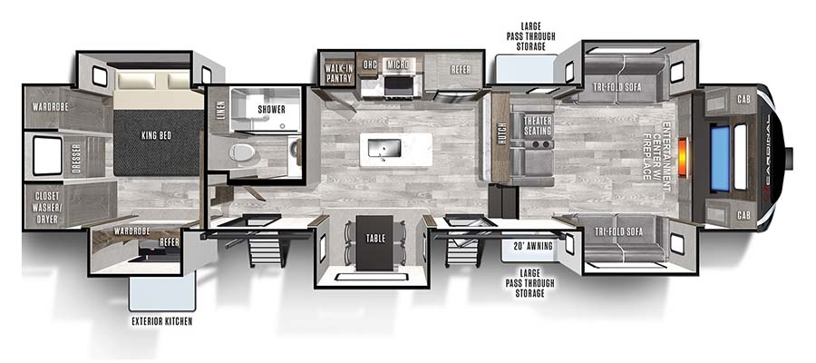 2022 Forest River Cardinal Limited 379FLLE Fifth Wheel: image 1