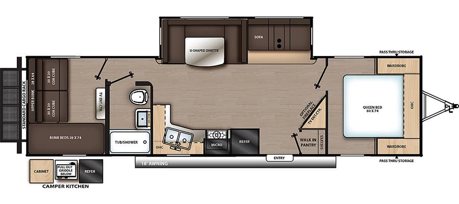 303QBCK Floorplan
