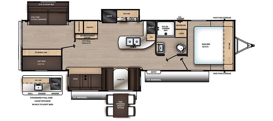 333BHTSCK Floorplan