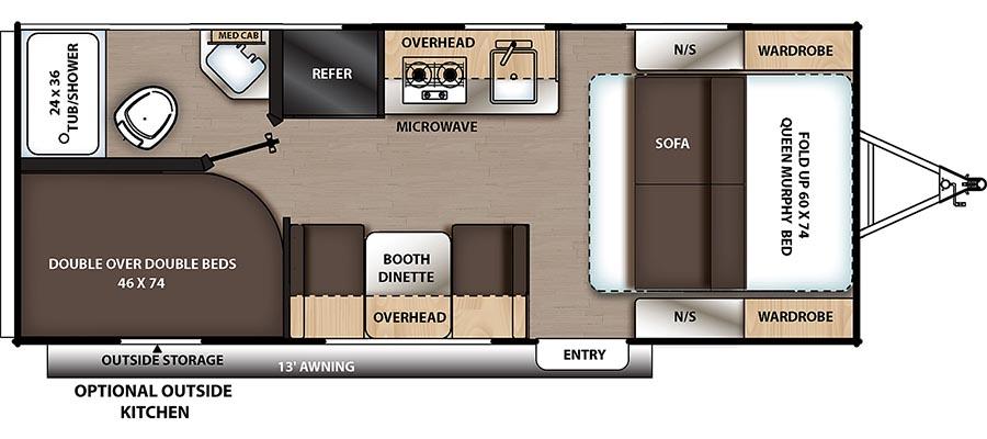 184DBK Floorplan