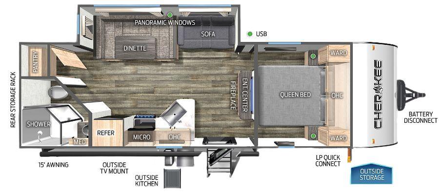 234DCBL Floorplan
