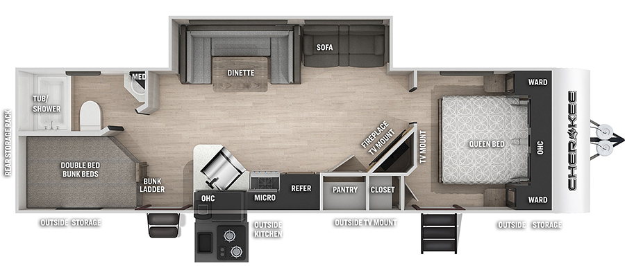 264DBHBL Floorplan