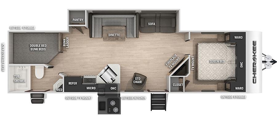 284DBHBL Floorplan