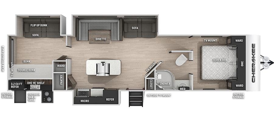 304BHBL Floorplan