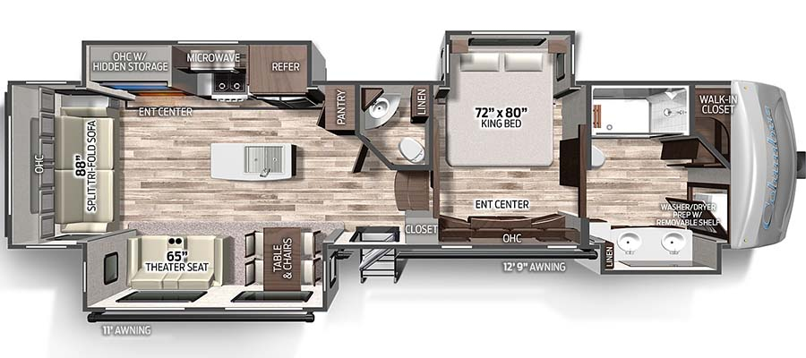 Columbus 383FB floorplan image
