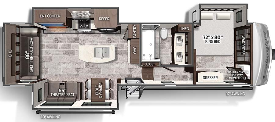 Columbus Compass Series 329DVC floorplan image