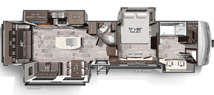 Click here to see the New 2020 Columbus Compass Series 383FBC Fifth Wheel by Palomino at RVWholesalers.com