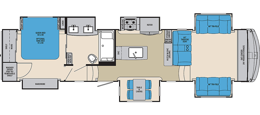 389FLC Floorplan