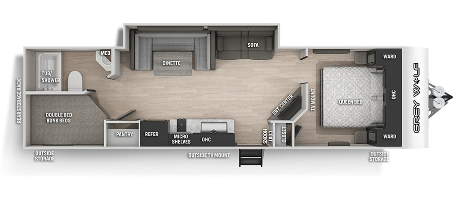 2022 Forest River Grey Wolf Special Edition 28DT Travel Trailer: image 1
