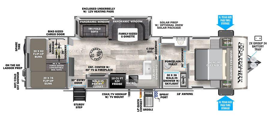 2021 Heritage Glen Hyper-Lyte 29XBHL - stock no. PO123087 - image  - thumbnail
