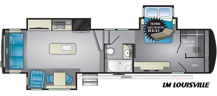 Heartland RV Landmark 365 Fifth Wheel Floorplans | The Real RV Wholesalers