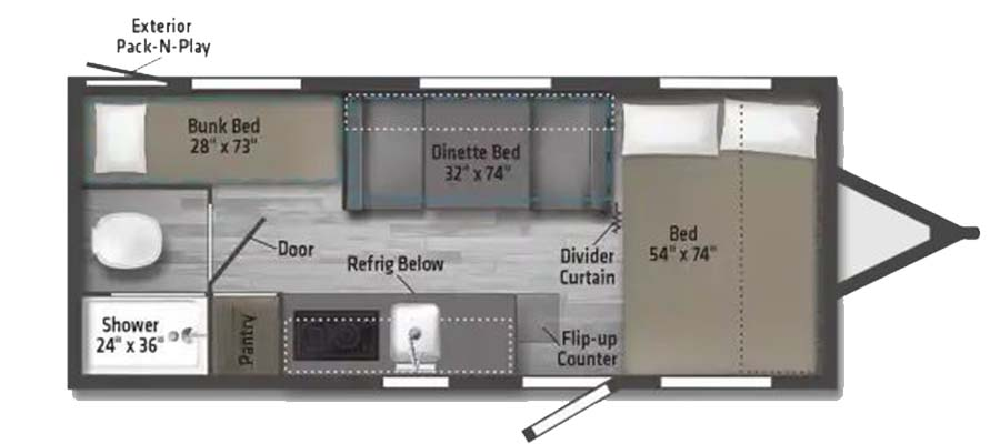 2021 Winnebago Micro Minnie 1700BH - stock no. X000414 - image  - thumbnail