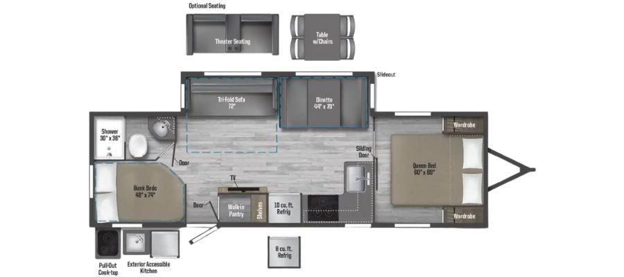 2801BHS Floorplan