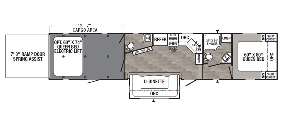 Puma 381FTB floorplan image