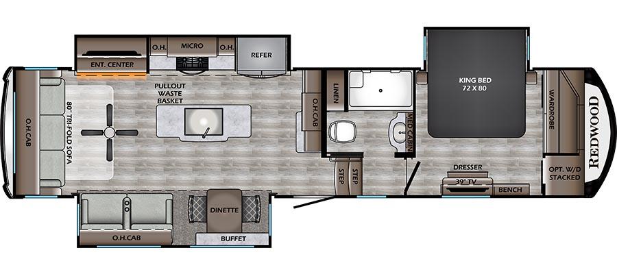 340RL Floorplan