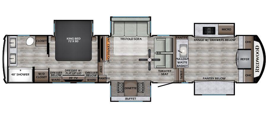 2022 Redwood 3981FK - stock no. X001436 - image  - thumbnail