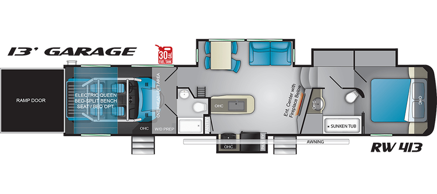 Road Warrior 413 floorplan image