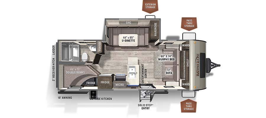 Rockwood Mini Lite 2509S floorplan image