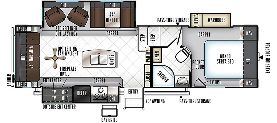 8288WSA Floorplan