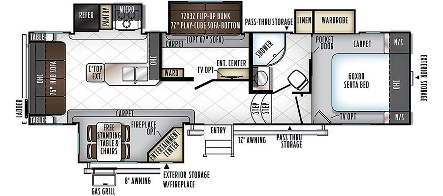 8295WS Floorplan