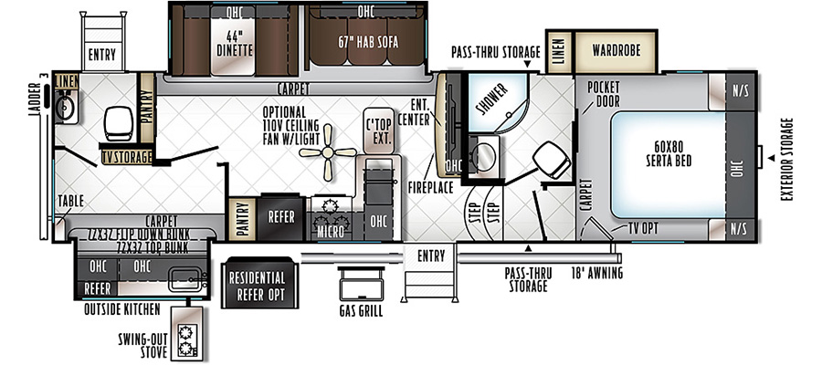8301WS Floorplan