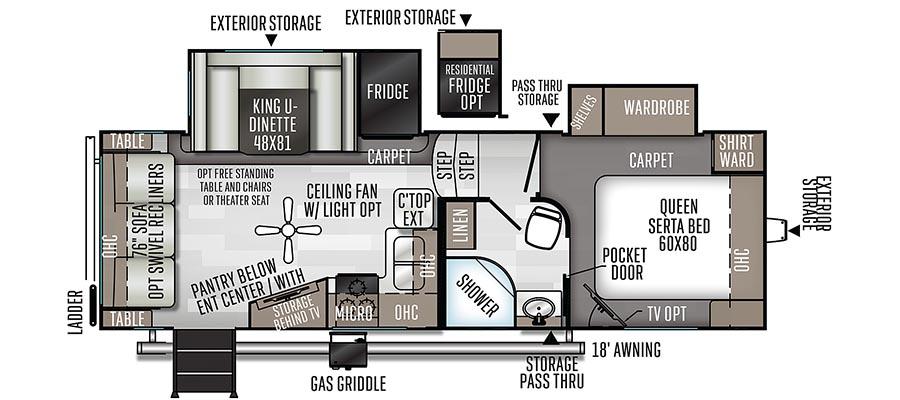 2441WS Floorplan
