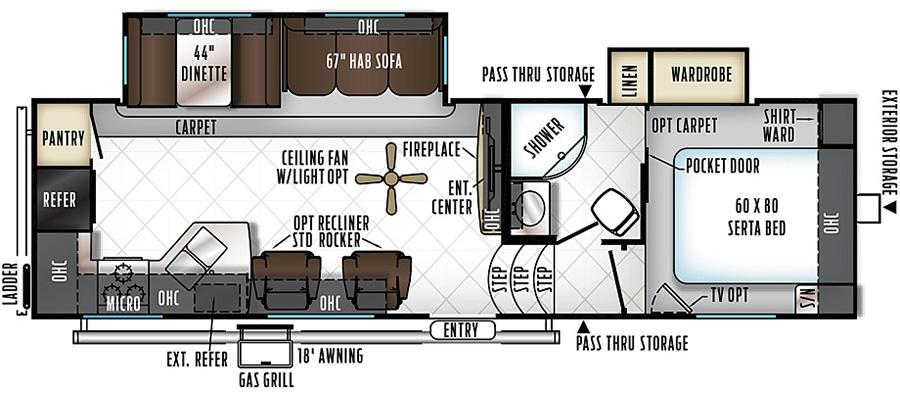 2880WS Floorplan