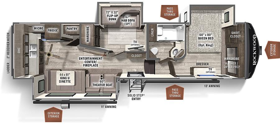 2887MB Floorplan