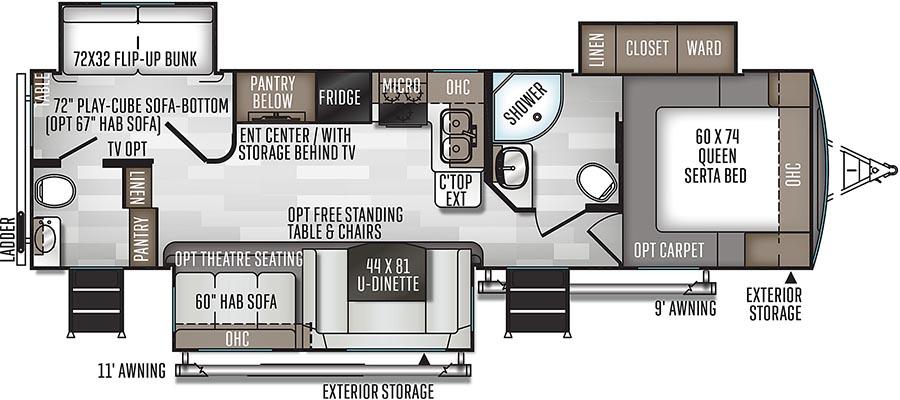 2910SB Floorplan