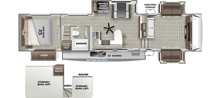 2022 Forest River Sabre 37FLL Fifth Wheel: image 1