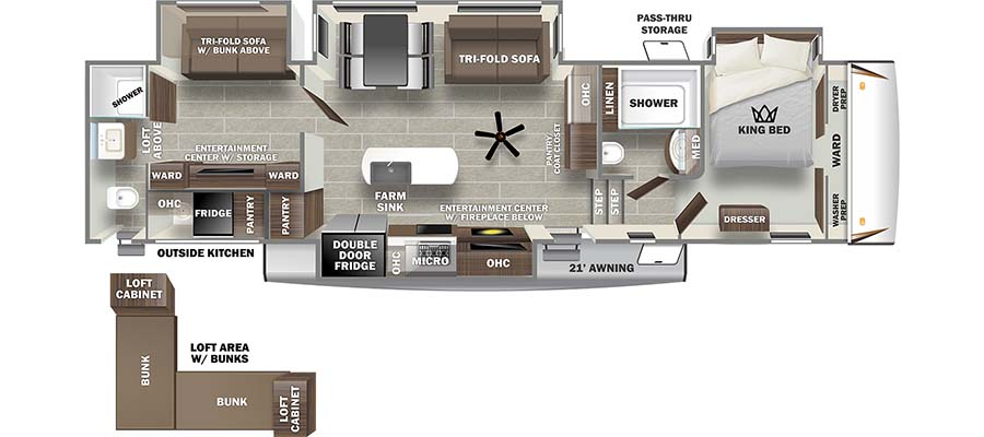 2022 Forest River Sabre 38DBQ Fifth Wheel: image 1