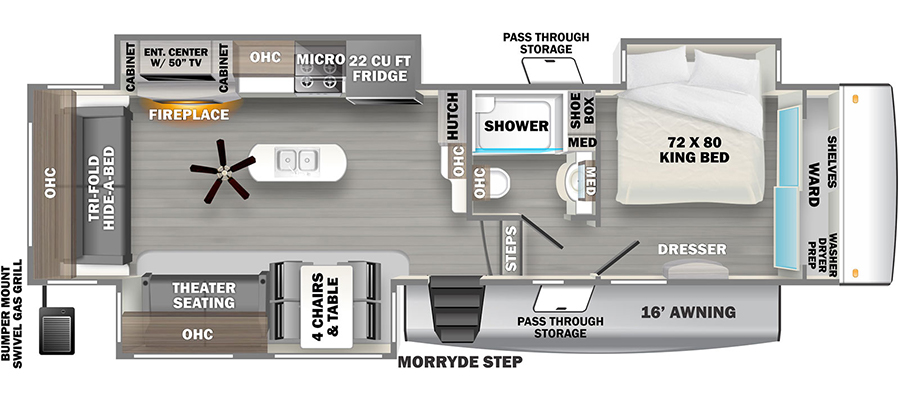Click here to see the New 2021 Sandpiper 321RL Fifth Wheel by Forest River at RVWholesalers.com
