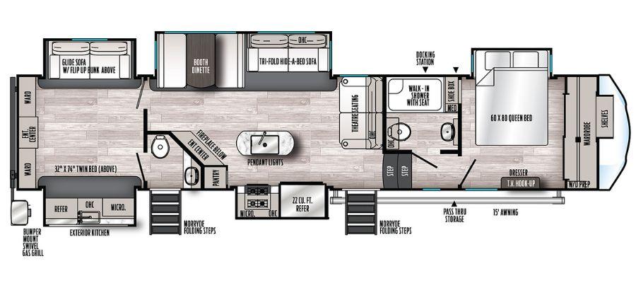 384QBOK Floorplan