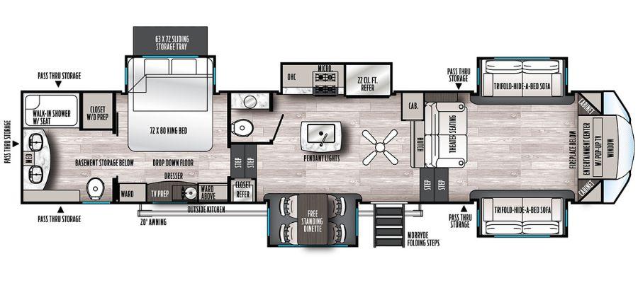 391FLRB Floorplan