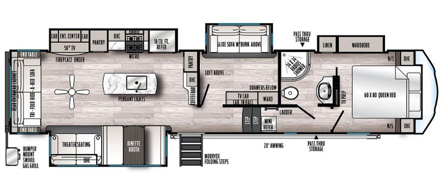 3660MB Floorplan