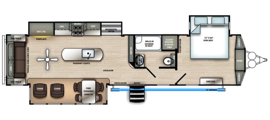 393RL Floorplan