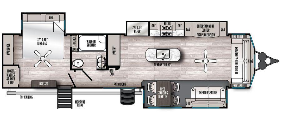 401FLX Floorplan