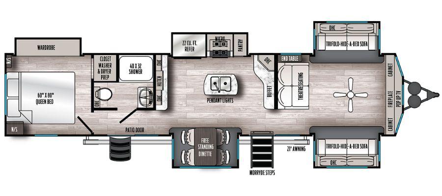 420FL Floorplan