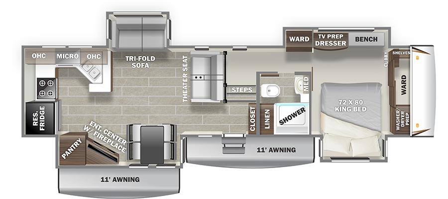 3702WB Floorplan