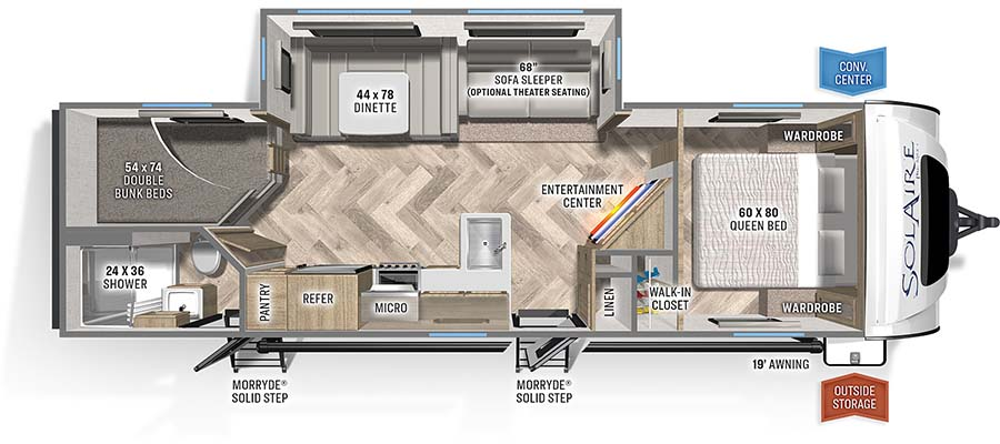 2022 Palomino Solaire Ultra Lite 294DBHS Travel Trailer: image 1